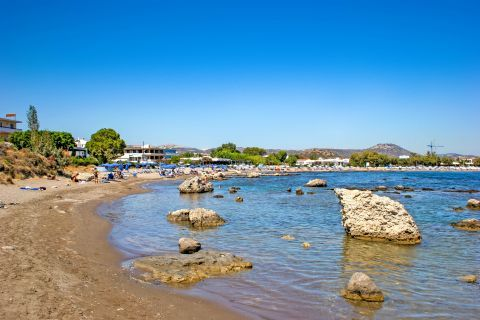 Kathara: Big rocks, emerging from the sea. Kathara beach.