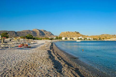 Kouloura: A quiet, clean beach.