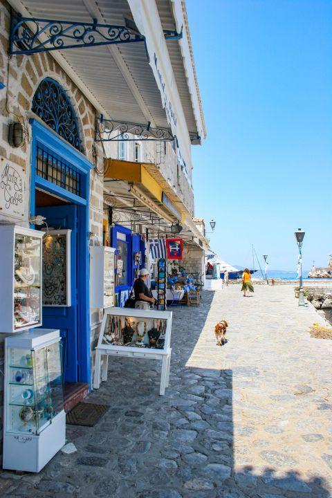 Town: Souvenir shops in Chora.