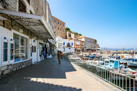 Town: Strolling all over the port of Hydra.