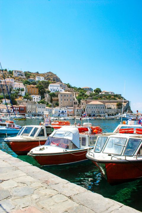 Town: Nice view from the port of Hydra.