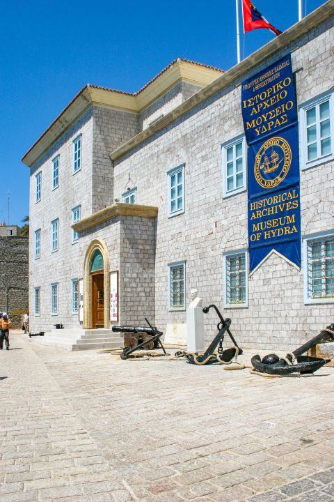 Town: The Museum of Historical Archives, Hydra.
