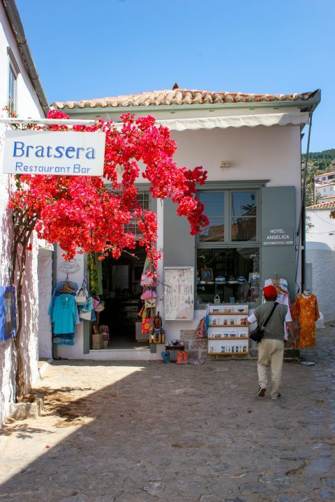 Town: Businesses in Hydra.