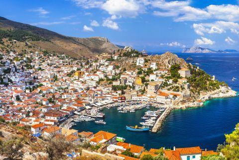 Town: Panoramic view of Chora