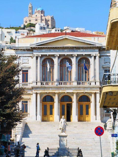 Ermoupolis: The Town Hall of Syros.