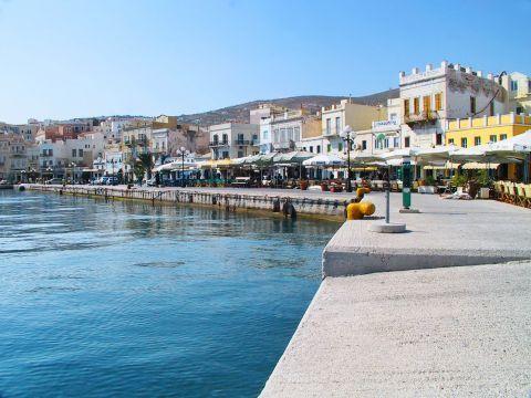 Ermoupolis: At the port of Ermoupolis, Syros.