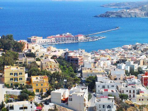 Ermoupolis: City view, Ermoupolis.