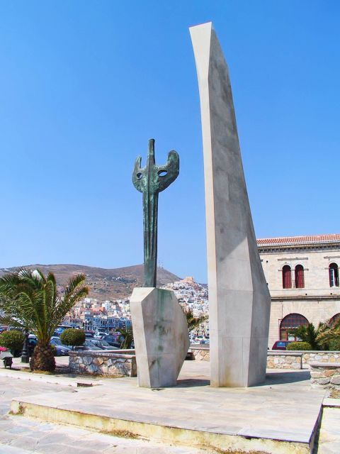 Ermoupolis: Monuments of Ermoupolis, Syros.