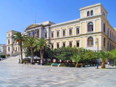 Ermoupolis: At the Town Hall of Ermoupolis