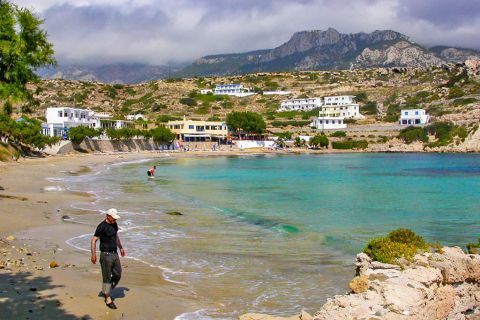 Lefkos: Lefkos beach.