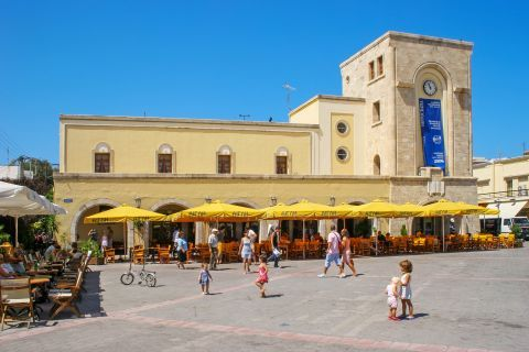Town: A central square in Kos.