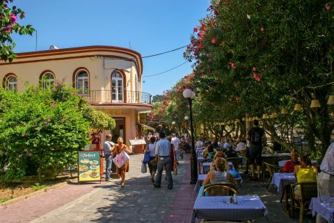 Town: Local taverns with outdoor seating under beautiful trees, that provide reviving shade.