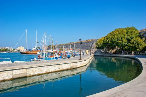 Town: Sailing boats and calm waters, Kos Town.