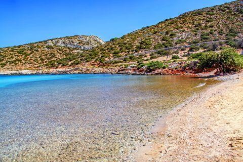 Platis Gialos: Crystal clear waters, Platis Gialos beach.