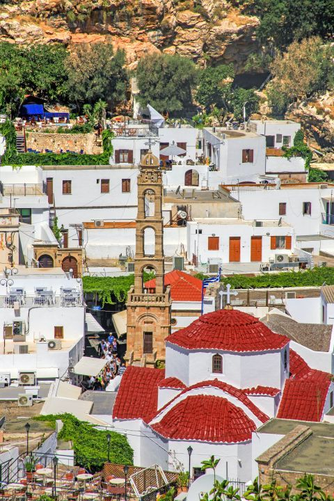 Lindos: The church of Panagia, Lindos.