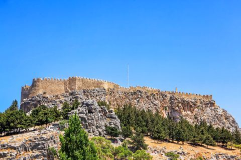 Lindos: The Medieval Castle of Lindos.