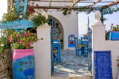 Mesochori: A local eatery with traditional decoration.
