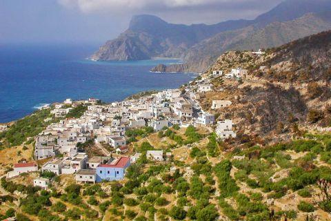 Mesochori: Panoramic view of Mesochori village.