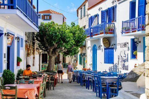 Chora: Places to eat and drink in Alonissos.