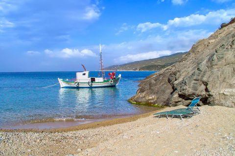Armenistis: A fishing boat in Armenistis village.