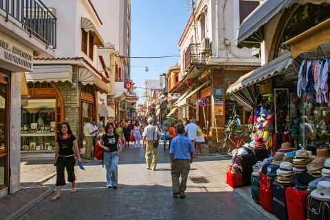 Town: Local market in Chios Town.