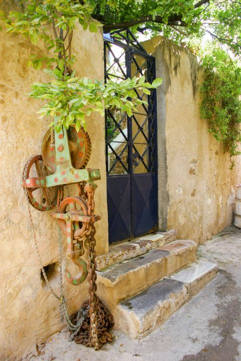 Town: The entrance of a local house.
