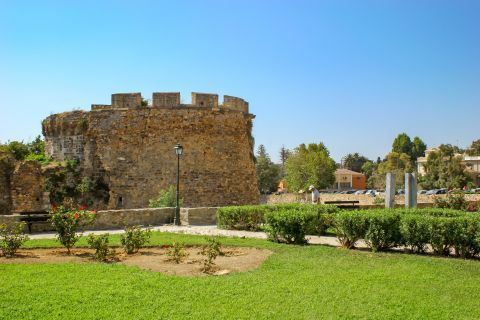 Town: Ancient walls in Chios Town.