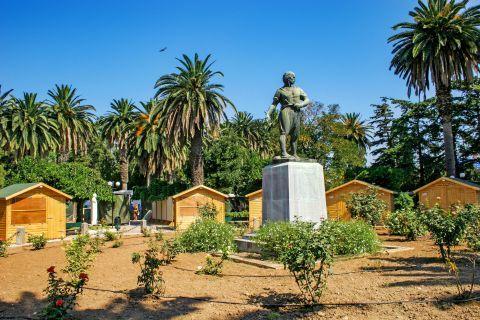 Town: Kanaris statue in Chora, Chios.