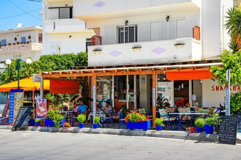 Kefalos: A local snack bar.