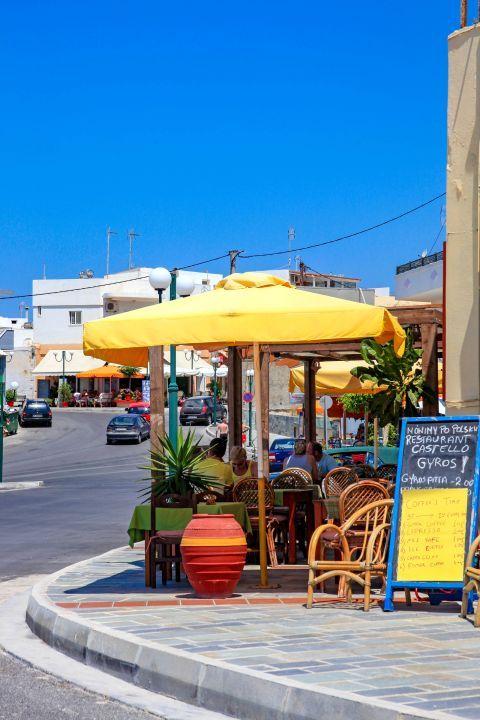 Kefalos: Cafes and eateries in Kefalos village.