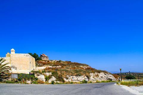 Kefalos: A spot with short vegetation in Kefalos village.