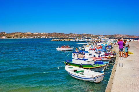 Kefalos: Fishing boats on the small harbor of Kefalos.