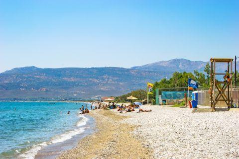 Potokaki: Potokaki beach has been awarded with the Blue Flag.