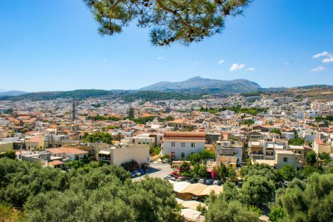 Town: City view of Rethymno.
