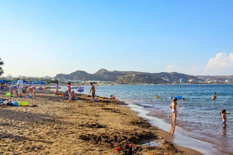 Faliraki: A popular spot on Faliraki beach.