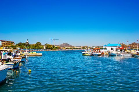 Faliraki: Calm waters. View from the small harbor of Faliraki.
