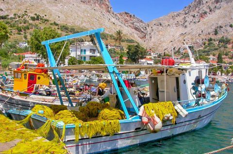 Vrondados: A fishing village.