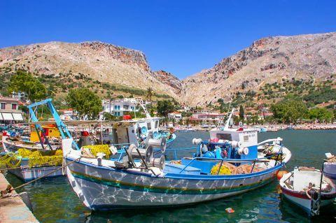 Vrondados: Fishing boats.