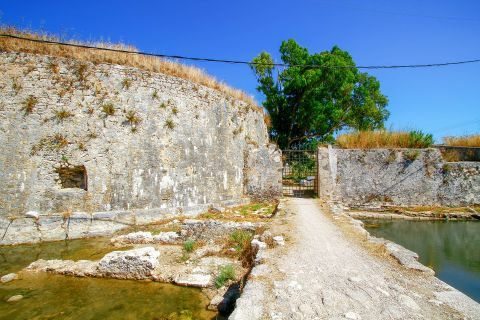 Town: The imposing fortress of Agia Maura.