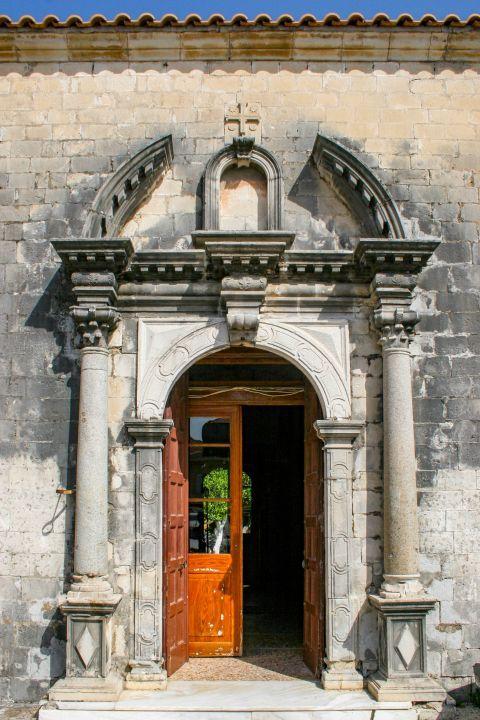 Town: The church of Agios Minas.