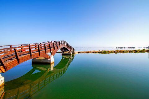 Town: The bridge of Lefkada Town.
