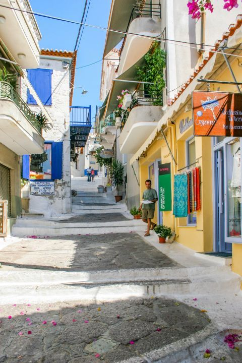 Town: A colorful alley.