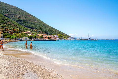 Vassiliki: Enjoy the azure waters of this beach.