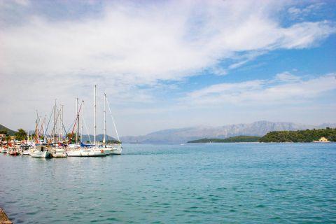 Nidri: Sailing boats on the port of Nidri.