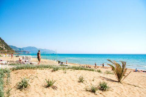 Glyfada: The beach offers sport facilities