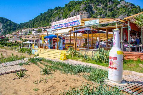 Glyfada: A beach bar on Glyfada beach