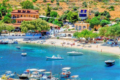 Agios Nikolaos: View of Agios Nikolaos beach.