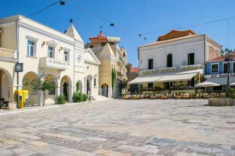 Town: A central spot in Zakynthos Town.