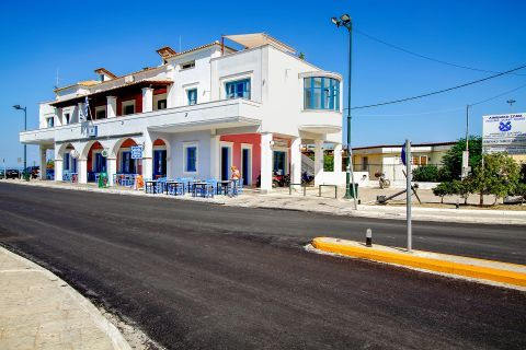 Town: Taverns close to the Hellenic Coast Guard of Zakynthos Town.