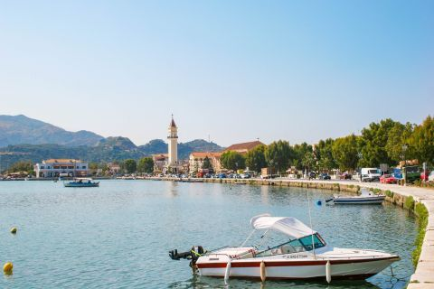 Town: Beautiful surroundings on the harbor of Zakynthos Town.